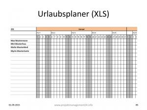 Urlaubsplaner Excel