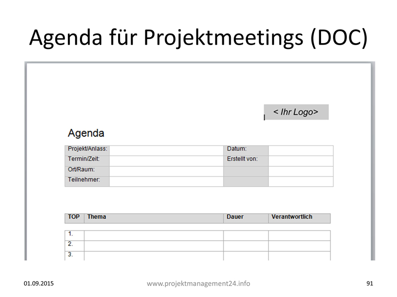 Agenda Meetings