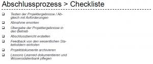 abschlussprozess checkliste