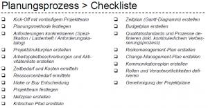 planungsprozess checkliste