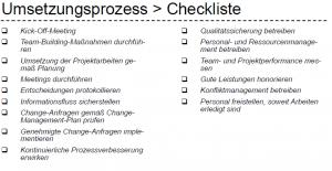 Umsetzungsprozess Checkliste
