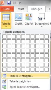 Tabelle erstellen