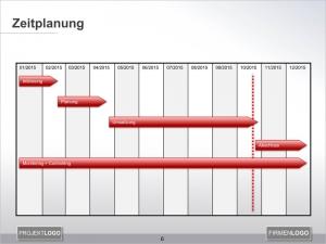 fertiger Zeitstrahl in PowerPoint