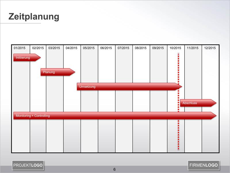 Zeitstrahl mit PowerPoint erstellen - PPT Vorlage zum Download