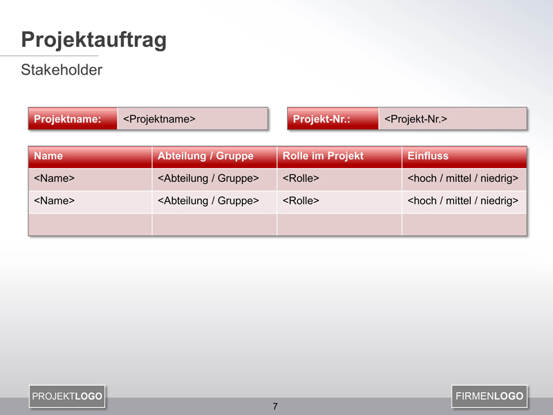 Stakeholder Register PowerPoint