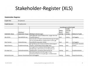 Stakeholder Register Excel