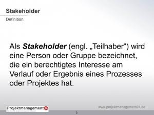 Definition Stakeholder